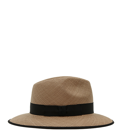 Trevill Christys Trilby - predominant colour: taupe; secondary colour: black; occasions: casual, holiday; type of pattern: standard; embellishment: ribbon; style: trilby; size: standard; material: fabric; pattern: plain; season: s/s 2016