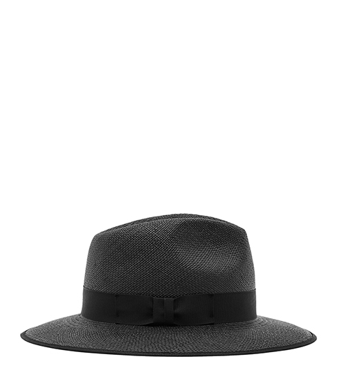 Trevill Christys Trilby - predominant colour: charcoal; secondary colour: black; occasions: casual, holiday; type of pattern: standard; embellishment: ribbon; style: trilby; size: standard; material: fabric; pattern: plain; season: s/s 2016; wardrobe: holiday