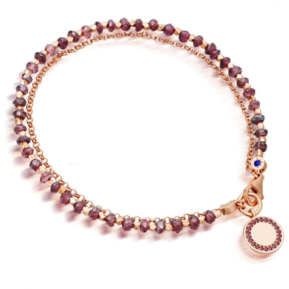 Garnet Cosmos Biography Bracelet - predominant colour: gold; occasions: evening, occasion; size: standard; material: chain/metal; finish: metallic; embellishment: jewels/stone; season: s/s 2016; style: bead; wardrobe: event