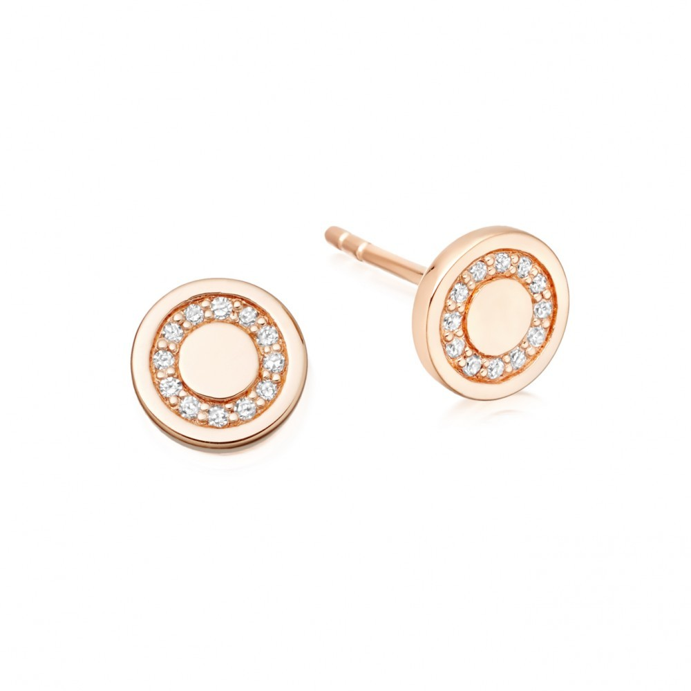 Mini Cosmos Stud Earrings - predominant colour: gold; occasions: evening, work, occasion; style: stud; length: short; size: small/fine; material: chain/metal; fastening: pierced; finish: metallic; embellishment: crystals/glass; season: s/s 2016; wardrobe: basic