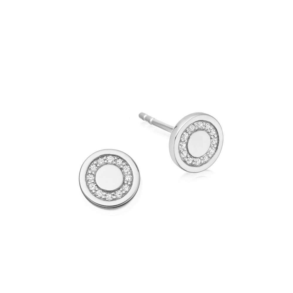 Mini Cosmos Stud Earrings - predominant colour: silver; occasions: evening, work, occasion; style: stud; length: short; size: small/fine; material: chain/metal; fastening: pierced; finish: metallic; embellishment: crystals/glass; season: s/s 2016