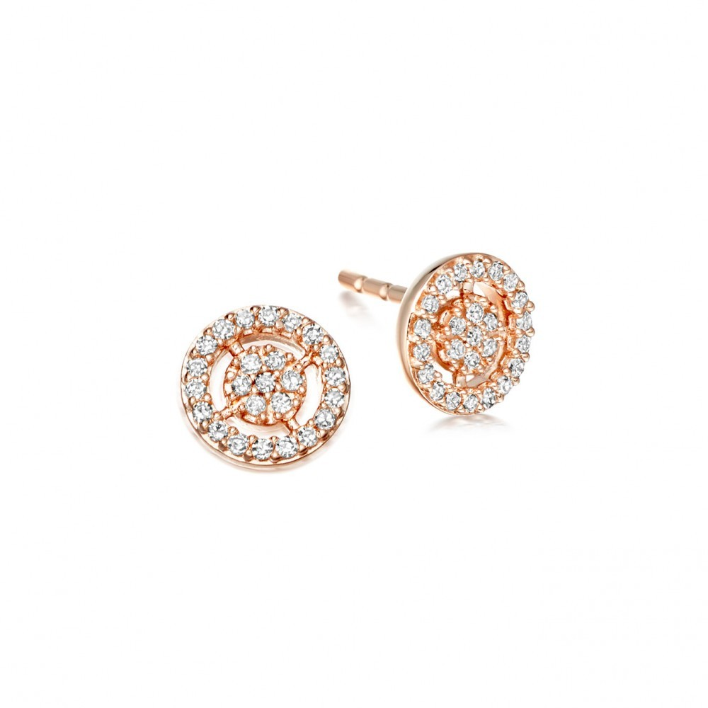 Mini Icon Aura Stud Earrings - predominant colour: gold; occasions: evening, work, occasion; style: stud; length: short; size: small/fine; material: chain/metal; fastening: pierced; finish: metallic; embellishment: crystals/glass; season: s/s 2016; wardrobe: basic