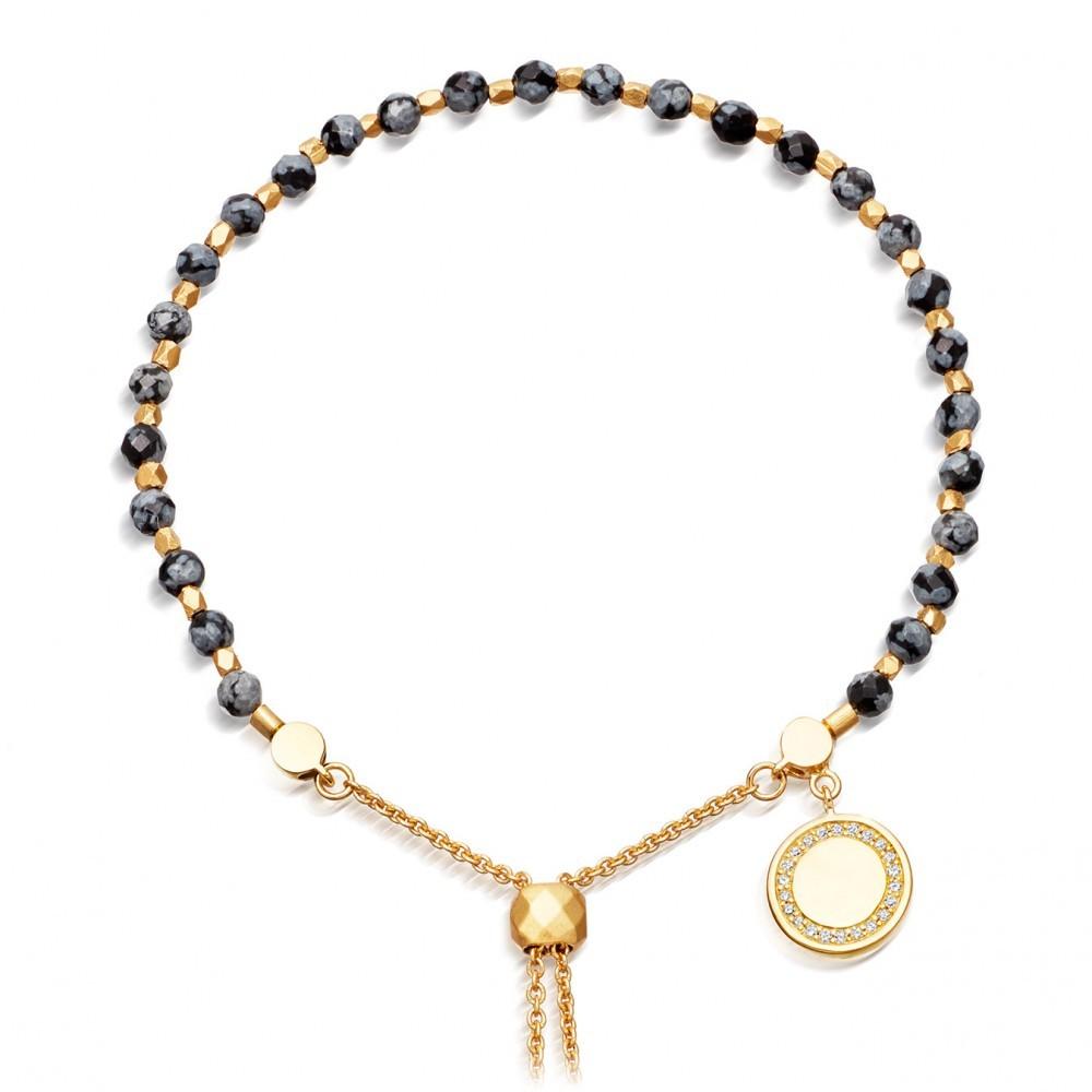 Thundercloud Obsidian Kula Bracelet - predominant colour: gold; secondary colour: gold; occasions: evening, occasion; style: friendship/tie; size: small/fine; material: chain/metal; finish: plain; embellishment: chain/metal; season: s/s 2016; wardrobe: event