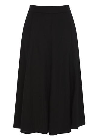 Womens Linen Side Stich Midi Skirt, Black, Black - length: below the knee; pattern: plain; style: full/prom skirt; fit: loose/voluminous; waist: high rise; predominant colour: terracotta; occasions: work; fibres: linen - 100%; hip detail: subtle/flattering hip detail; texture group: linen; pattern type: fabric; season: s/s 2016; wardrobe: highlight