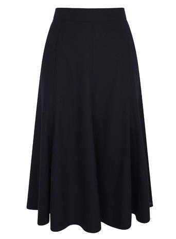 Womens Linen Side Stich Midi Skirt, Navy, Navy - length: below the knee; pattern: plain; style: full/prom skirt; fit: loose/voluminous; waist: high rise; predominant colour: navy; occasions: work; fibres: linen - mix; hip detail: subtle/flattering hip detail; texture group: linen; pattern type: fabric; season: s/s 2016; wardrobe: basic