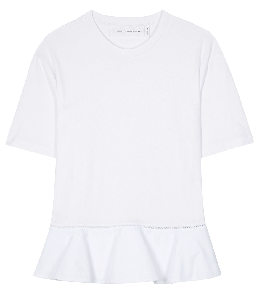 Cotton T Shirt - pattern: plain; style: t-shirt; predominant colour: white; occasions: casual; length: standard; fibres: cotton - 100%; fit: body skimming; neckline: crew; sleeve length: short sleeve; sleeve style: standard; pattern type: fabric; texture group: jersey - stretchy/drapey; season: s/s 2016; wardrobe: basic