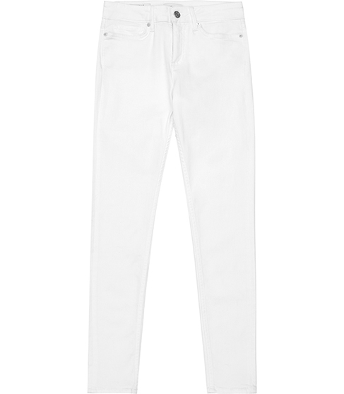 Stevie Low Rise Skinny Jeans - style: skinny leg; length: standard; pattern: plain; pocket detail: traditional 5 pocket; waist: mid/regular rise; predominant colour: white; occasions: casual; fibres: cotton - stretch; texture group: denim; pattern type: fabric; season: s/s 2016; wardrobe: highlight