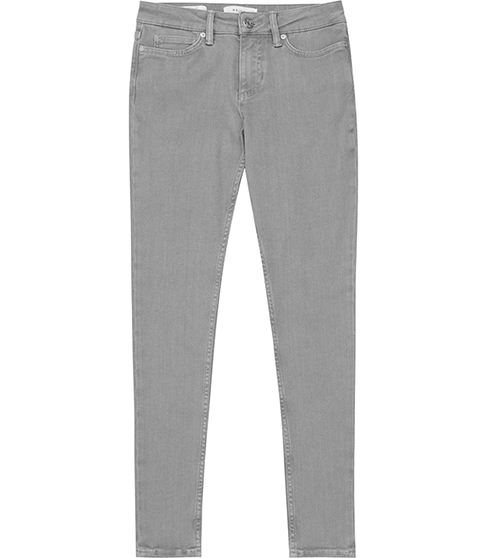 Stevie Low Rise Skinny Jeans - style: skinny leg; length: standard; pattern: plain; waist: low rise; pocket detail: traditional 5 pocket; predominant colour: mid grey; occasions: casual; fibres: cotton - stretch; texture group: denim; pattern type: fabric; season: s/s 2016