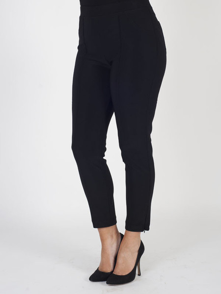 Joseph Ribkoff Black Trouser - pattern: plain; waist: mid/regular rise; predominant colour: black; occasions: casual, evening, creative work; length: ankle length; fibres: polyester/polyamide - stretch; fit: slim leg; pattern type: fabric; texture group: other - stretchy; style: standard; pattern size: standard (bottom); season: s/s 2016; wardrobe: basic