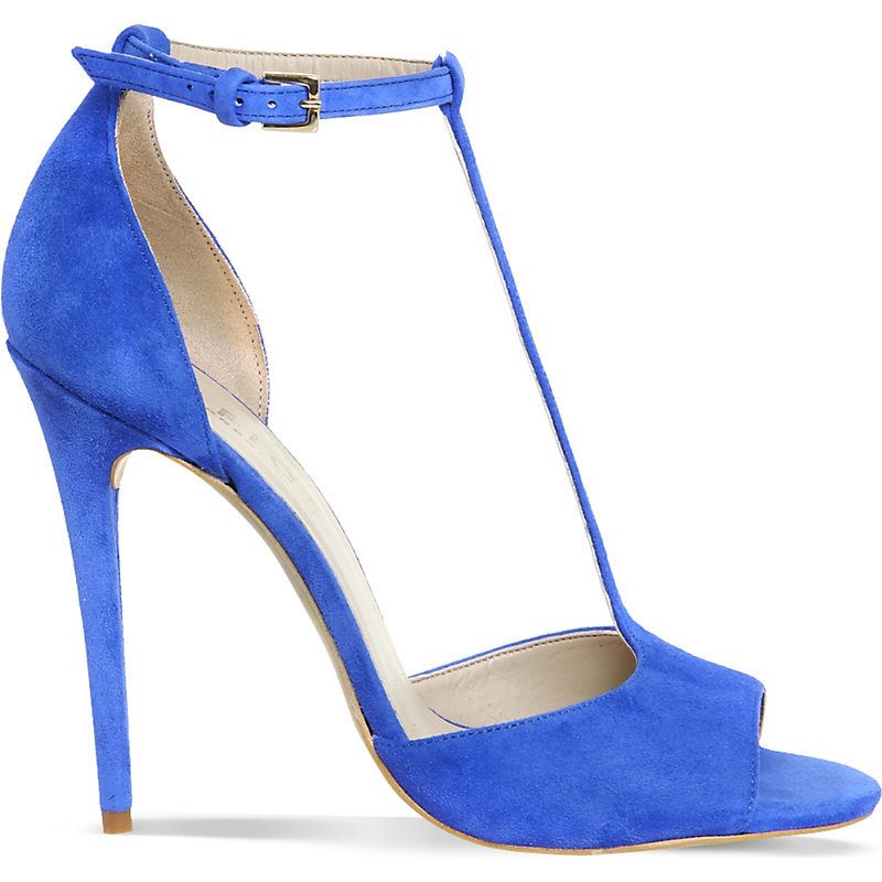 Arrive Suede Heeled Sandals, Women's, Blue Suede - predominant colour: diva blue; occasions: evening, occasion; material: suede; ankle detail: ankle strap; heel: stiletto; toe: open toe/peeptoe; style: strappy; finish: plain; pattern: plain; heel height: very high; season: s/s 2016; wardrobe: event