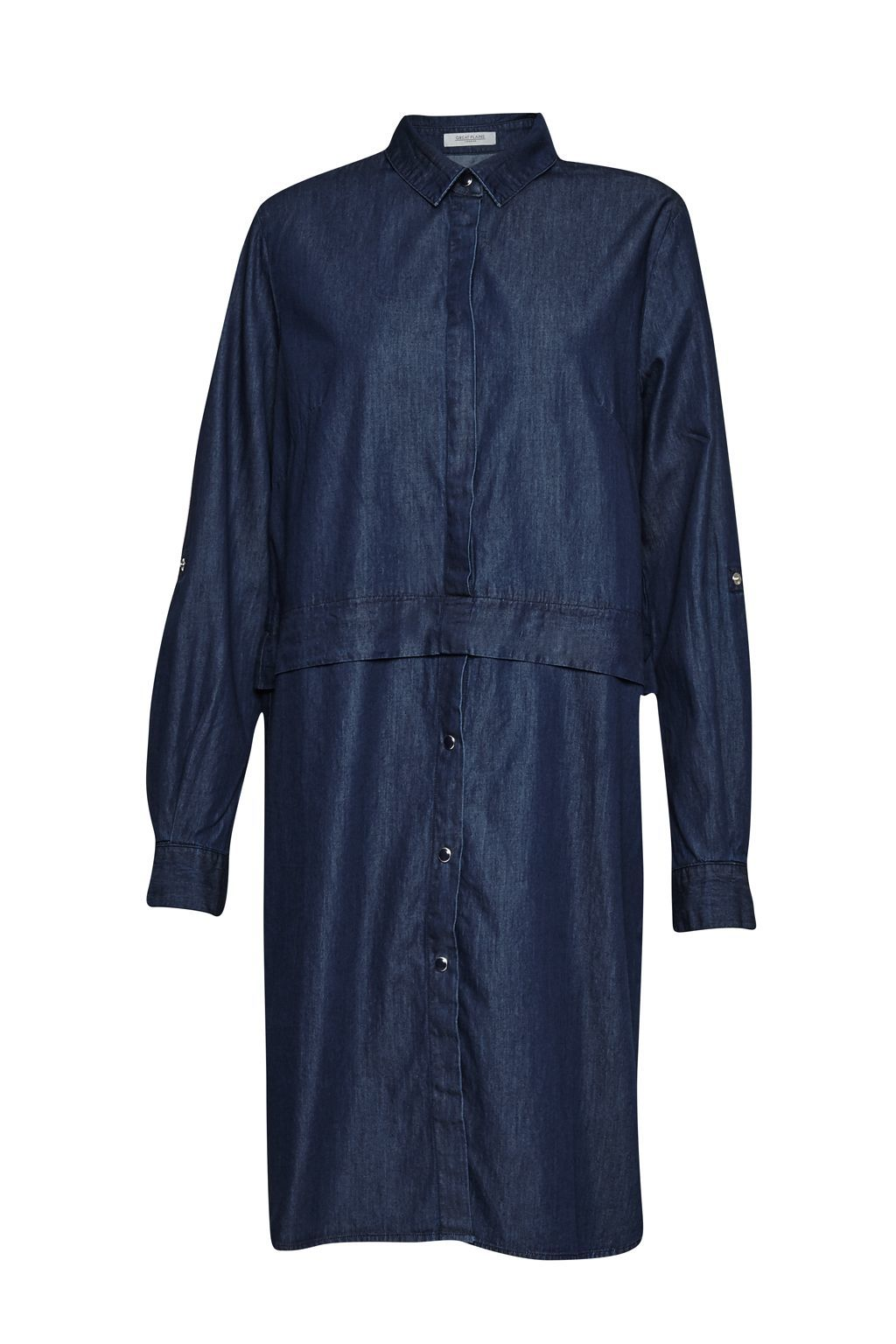 Lightweight Denim Shirt Dress, Blue - style: shirt; neckline: shirt collar/peter pan/zip with opening; pattern: plain; predominant colour: navy; occasions: casual; length: just above the knee; fit: body skimming; fibres: cotton - 100%; sleeve length: long sleeve; sleeve style: standard; texture group: denim; pattern type: fabric; season: s/s 2016; wardrobe: basic