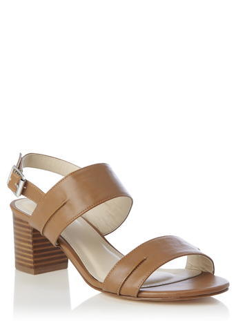 Womens Tan Block Heel Sandal, Tan - predominant colour: tan; occasions: casual; material: faux leather; heel height: mid; heel: block; toe: open toe/peeptoe; style: strappy; finish: plain; pattern: plain; season: s/s 2016; wardrobe: highlight