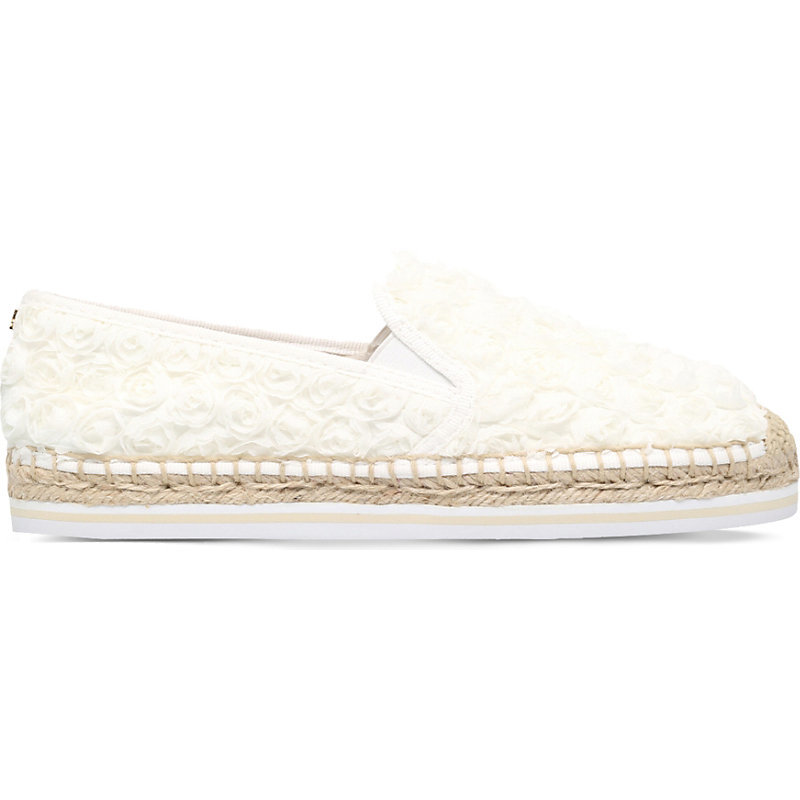 Rosette Espadrilles, Women's, Eur 39.5 / 6.5 Uk Women, Ivory - predominant colour: ivory/cream; occasions: casual, holiday; material: fabric; heel height: flat; toe: round toe; finish: plain; pattern: plain; style: espadrilles; season: s/s 2016; wardrobe: highlight