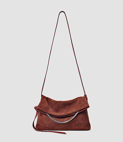 Lafayette Medium Shoulder Bag - predominant colour: tan; occasions: casual, creative work; type of pattern: standard; style: shoulder; length: shoulder (tucks under arm); size: standard; material: suede; pattern: plain; finish: plain; season: s/s 2016; wardrobe: highlight