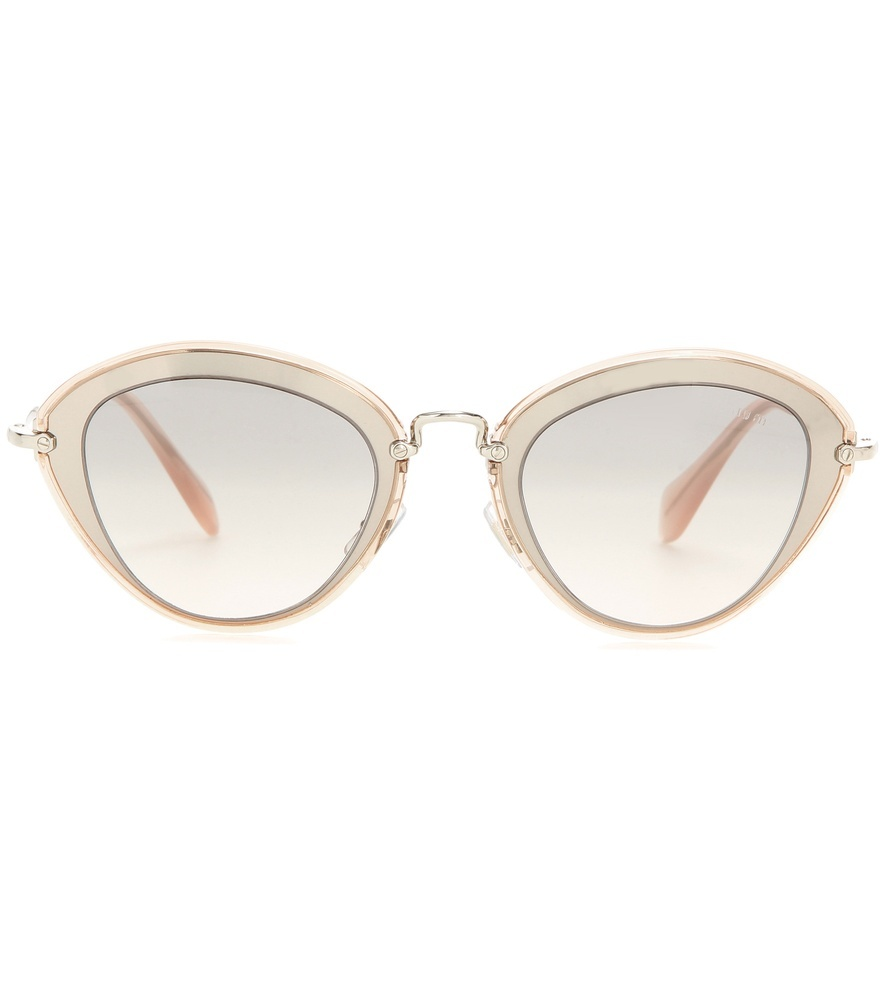 Cat Eye Sunglasses - predominant colour: ivory/cream; occasions: casual, holiday; style: cateye; size: large; material: plastic/rubber; pattern: plain; finish: plain; season: s/s 2016; wardrobe: basic