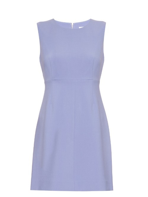 Carrie Dress - style: shift; length: mini; pattern: plain; sleeve style: sleeveless; predominant colour: pale blue; occasions: evening; fit: body skimming; fibres: polyester/polyamide - stretch; neckline: crew; sleeve length: sleeveless; pattern type: fabric; texture group: other - light to midweight; season: s/s 2016; wardrobe: event