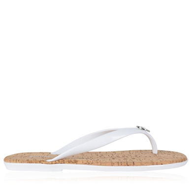Jet Set Jelly Flip Flop Sandals - predominant colour: white; occasions: casual, holiday; material: plastic/rubber; heel height: flat; heel: standard; toe: toe thongs; style: flip flops; finish: plain; pattern: plain; season: s/s 2016; wardrobe: highlight