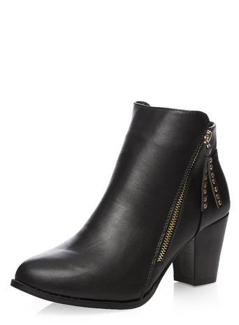 Womens Dorothy Perkins Wide Fit Black 'weave' Boots, Black - predominant colour: black; occasions: casual, creative work; material: faux leather; heel height: high; heel: cone; toe: round toe; boot length: ankle boot; style: standard; finish: plain; pattern: plain; season: s/s 2016; wardrobe: highlight