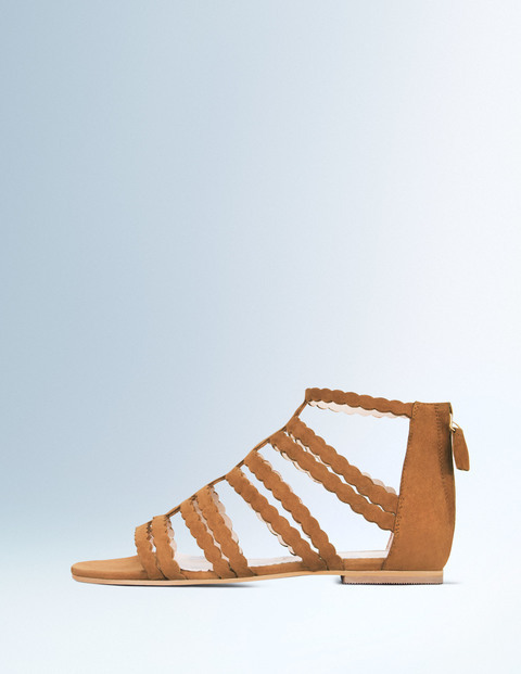 Gladys Gladiator Sandal Tan Women, Tan - predominant colour: camel; occasions: casual, holiday; material: leather; heel height: flat; ankle detail: ankle strap; heel: standard; toe: open toe/peeptoe; style: strappy; finish: plain; pattern: plain; season: s/s 2016; wardrobe: basic