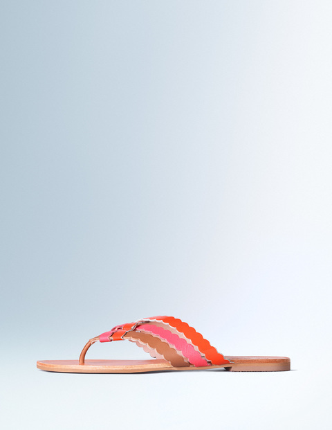 Georgia Woven Sandal Tan/Coral Reef/Firecracker Women, Tan/Coral Reef/Firecracker - secondary colour: pink; predominant colour: camel; material: faux leather; heel height: flat; heel: standard; toe: toe thongs; style: flip flops; occasions: holiday; finish: plain; pattern: colourblock; season: s/s 2016; wardrobe: highlight