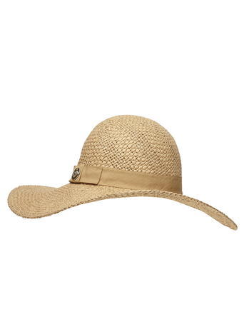 Womens Biscuit Floppy Hat White - predominant colour: stone; occasions: casual, holiday; type of pattern: standard; style: wide brimmed; size: large; material: macrame/raffia/straw; pattern: plain; season: s/s 2016; wardrobe: holiday