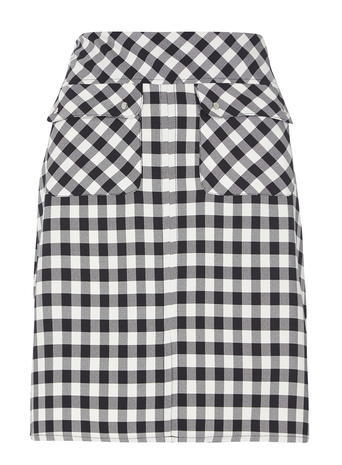 Womens **Tall Gingham Woven A Line Skirt Blue - length: mini; pattern: checked/gingham; waist: mid/regular rise; secondary colour: white; predominant colour: black; occasions: casual; style: mini skirt; fibres: polyester/polyamide - 100%; fit: straight cut; pattern type: fabric; texture group: other - light to midweight; multicoloured: multicoloured; season: s/s 2016; wardrobe: highlight