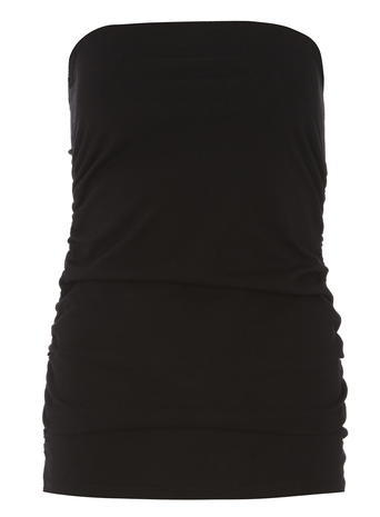 Womens Black Bandeau Top Black - neckline: strapless (straight/sweetheart); pattern: plain; sleeve style: strapless; predominant colour: black; occasions: casual; length: standard; style: top; fibres: cotton - 100%; fit: body skimming; sleeve length: sleeveless; texture group: jersey - clingy; pattern type: fabric; season: s/s 2016