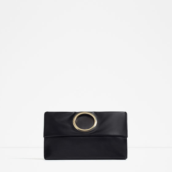 Convertible Cross Body Bag - predominant colour: black; occasions: evening; type of pattern: standard; style: clutch; length: hand carry; size: small; material: fabric; pattern: plain; finish: plain; season: s/s 2016; wardrobe: event