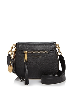 Recruit Small Saddle Bag - secondary colour: gold; predominant colour: black; occasions: casual; type of pattern: standard; style: saddle; length: across body/long; size: small; material: leather; pattern: plain; finish: plain; embellishment: chain/metal; season: s/s 2016; wardrobe: highlight