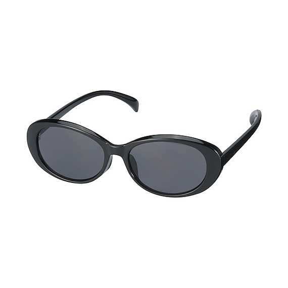 Women Oval Shaped Sunglasses Black - predominant colour: black; occasions: casual; style: round; size: standard; material: plastic/rubber; pattern: plain; finish: plain; season: s/s 2016; wardrobe: basic