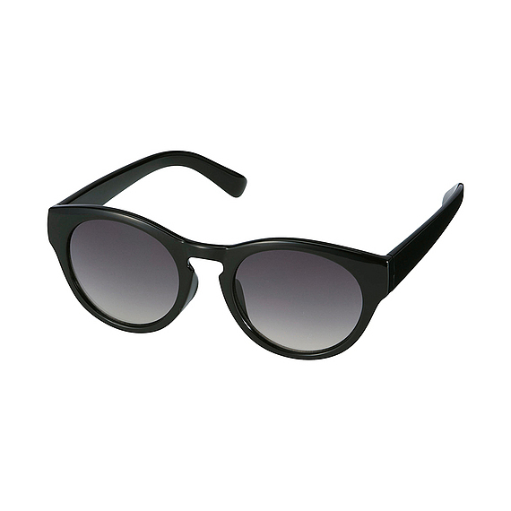 Women Boston Sunglasses Black - predominant colour: black; occasions: casual; style: round; size: standard; material: plastic/rubber; pattern: plain; finish: plain; season: s/s 2016; wardrobe: basic