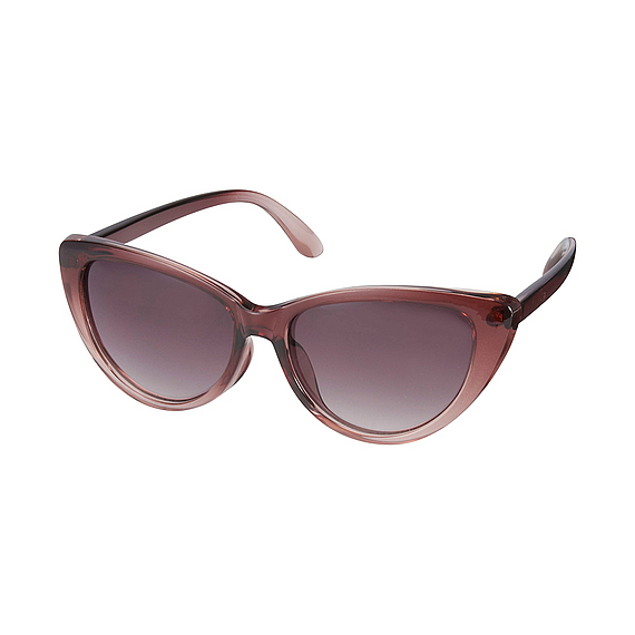 Women Sharp Cats Eye Sunglasses Wine - style: cateye; size: standard; material: plastic/rubber; pattern: plain; occasions: holiday; finish: plain; predominant colour: dusky pink; season: s/s 2016