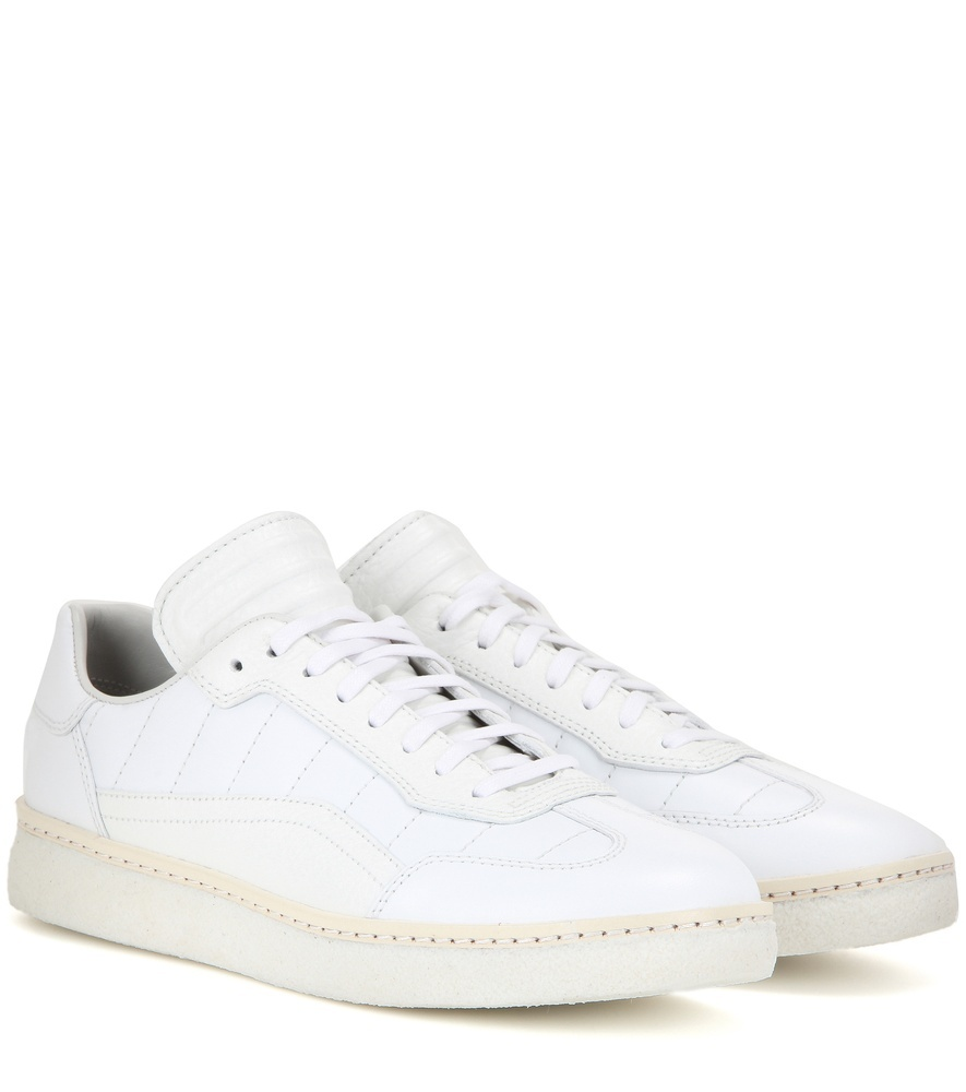 Eden Leather Sneakers - predominant colour: white; occasions: casual; material: leather; heel height: flat; toe: round toe; style: trainers; finish: plain; pattern: plain; season: s/s 2016; wardrobe: basic