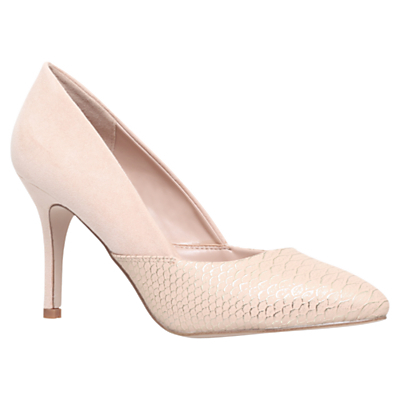 Savannah High Heeled Stiletto Court Shoes - predominant colour: ivory/cream; occasions: evening, occasion; heel height: high; heel: stiletto; toe: pointed toe; style: courts; finish: plain; pattern: plain; material: faux suede; season: s/s 2016