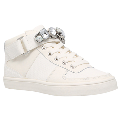 Luminous Embellished Trainers, White - predominant colour: white; occasions: casual, creative work; material: leather; heel height: flat; toe: round toe; style: trainers; finish: plain; pattern: plain; shoe detail: moulded soul; season: s/s 2016