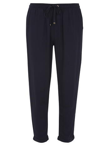Womens Petite Navy Joggers Blue - pattern: plain; style: tracksuit pants; waist: mid/regular rise; predominant colour: navy; occasions: casual, creative work; length: ankle length; fibres: viscose/rayon - 100%; texture group: cotton feel fabrics; fit: slim leg; pattern type: fabric; season: s/s 2016; wardrobe: basic
