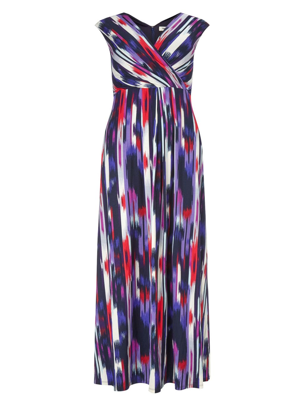 Jolene Maxi Dress, Multi Coloured - neckline: v-neck; sleeve style: sleeveless; style: maxi dress; pattern: striped; secondary colour: white; predominant colour: purple; occasions: evening; length: floor length; fit: body skimming; fibres: viscose/rayon - stretch; sleeve length: sleeveless; pattern type: fabric; texture group: jersey - stretchy/drapey; multicoloured: multicoloured; season: s/s 2016; wardrobe: event