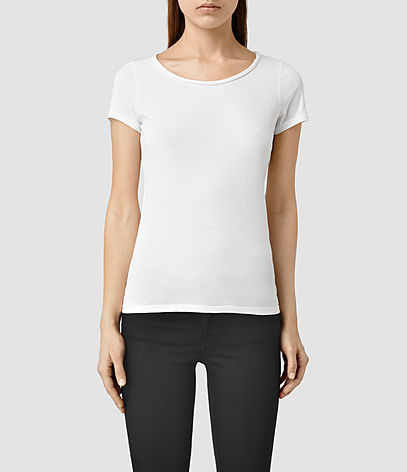 Vetten Tee - neckline: round neck; pattern: plain; style: t-shirt; predominant colour: white; occasions: casual; length: standard; fibres: cotton - stretch; fit: body skimming; sleeve length: short sleeve; sleeve style: standard; texture group: jersey - clingy; pattern type: fabric; season: s/s 2016; wardrobe: basic
