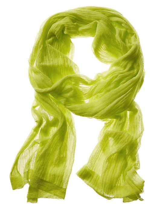 Organza Scarf Electric Shock - predominant colour: lime; occasions: casual; type of pattern: standard; style: regular; size: standard; pattern: plain; material: tulle/sheer; season: s/s 2016; wardrobe: highlight