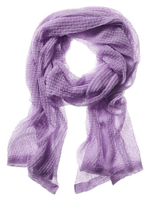 Organza Scarf Summer Lilac - predominant colour: lilac; occasions: casual; type of pattern: standard; style: regular; size: standard; pattern: plain; material: tulle/sheer; season: s/s 2016