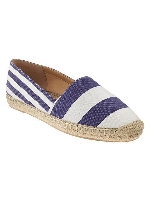 Gracie Espadrille Multi Stripe - predominant colour: white; secondary colour: navy; occasions: casual, holiday; material: fabric; heel height: flat; toe: round toe; finish: plain; pattern: striped; style: espadrilles; multicoloured: multicoloured; season: s/s 2016; wardrobe: highlight