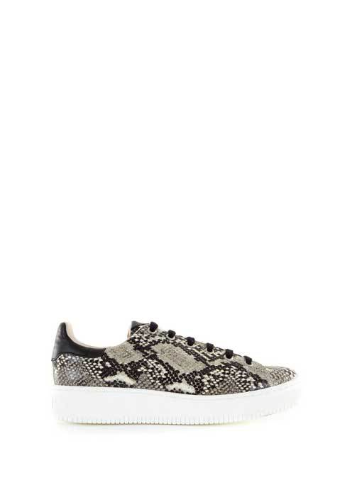 Snake Andi Lace Up Trainer - predominant colour: stone; secondary colour: mid grey; occasions: casual; material: leather; heel height: flat; toe: round toe; style: trainers; finish: plain; pattern: animal print; multicoloured: multicoloured; season: s/s 2016; wardrobe: highlight