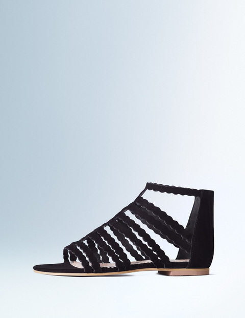 Gladys Gladiator Sandal Black Women, Black - predominant colour: black; occasions: casual, holiday; material: leather; heel height: flat; heel: standard; toe: open toe/peeptoe; style: gladiators; finish: plain; pattern: plain; season: s/s 2016; wardrobe: basic