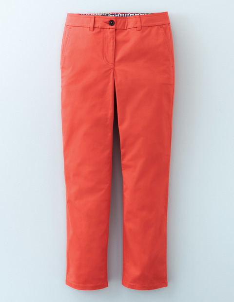7/8 Chino Braid Women, Braid - pattern: plain; waist: mid/regular rise; predominant colour: coral; occasions: casual; length: ankle length; fibres: cotton - 100%; waist detail: feature waist detail; texture group: cotton feel fabrics; fit: slim leg; pattern type: fabric; style: standard; season: s/s 2016; wardrobe: highlight