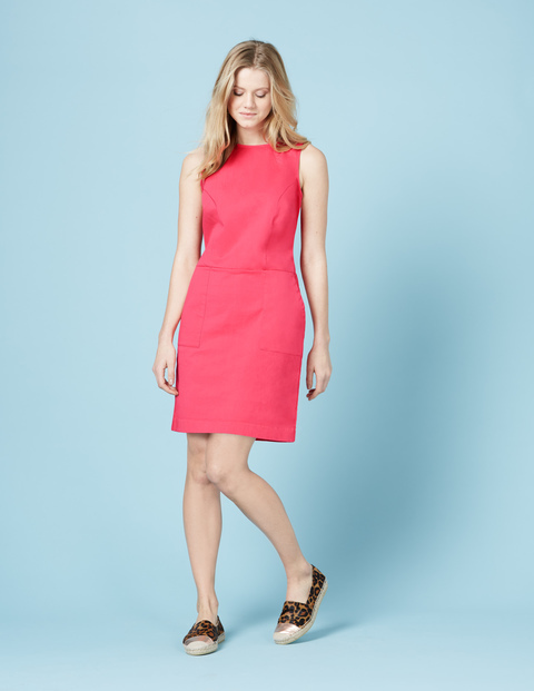 Chino Tunic Dress Coral Reef Women, Coral Reef - style: shift; neckline: slash/boat neckline; pattern: plain; sleeve style: sleeveless; predominant colour: pink; occasions: casual; length: just above the knee; fit: body skimming; fibres: cotton - stretch; sleeve length: sleeveless; pattern type: fabric; texture group: other - light to midweight; season: s/s 2016; wardrobe: highlight