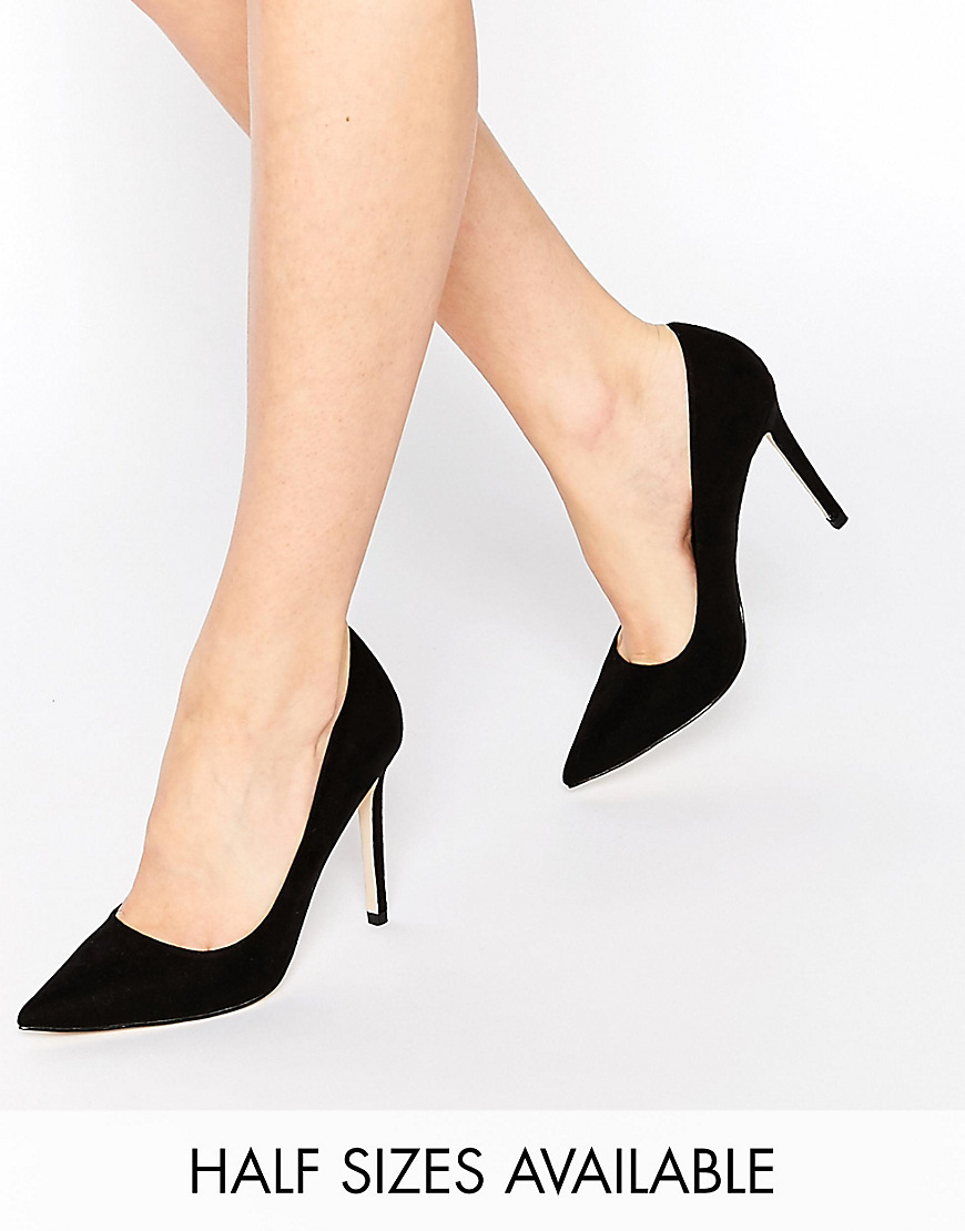 Peru Pointed High Heels Black - predominant colour: black; occasions: evening, work, occasion; heel height: high; heel: stiletto; toe: pointed toe; style: courts; finish: plain; pattern: plain; material: faux suede; season: s/s 2016
