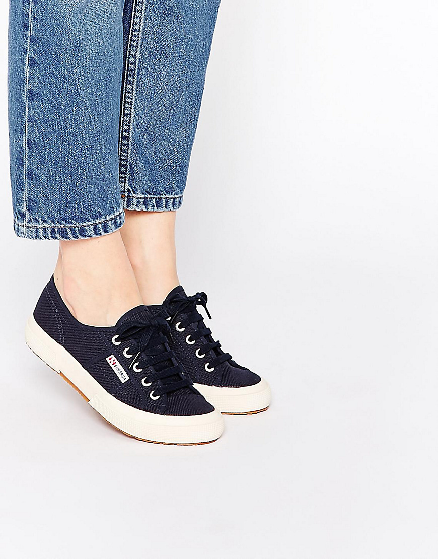 2750 Classic Navy Plimsoll Trainers Navy - predominant colour: navy; occasions: casual; material: fabric; heel height: flat; toe: round toe; style: trainers; finish: plain; pattern: plain; season: s/s 2016; wardrobe: basic