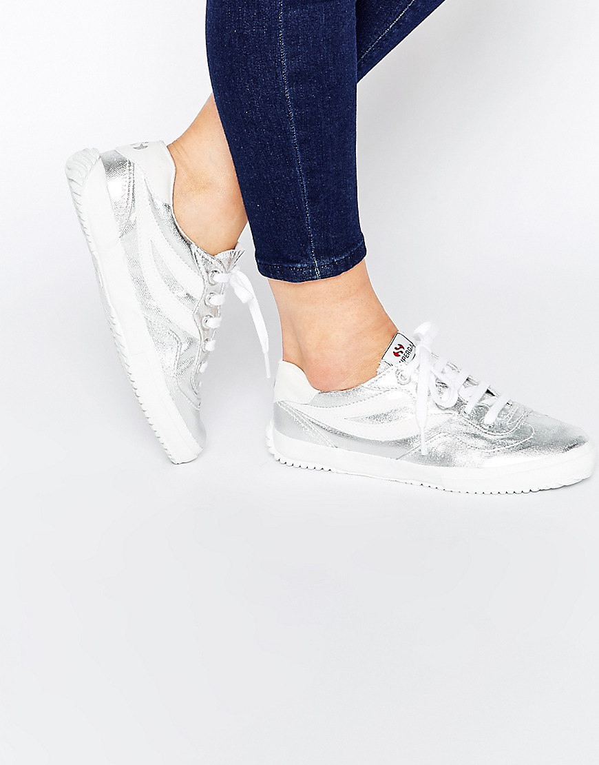 2832 Silver Trainers Silver - predominant colour: silver; occasions: casual; material: fabric; heel height: flat; toe: round toe; style: trainers; finish: metallic; pattern: plain; season: s/s 2016; wardrobe: basic