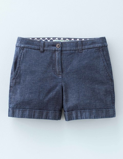 Chino Shorts Denim Women, Denim - pattern: plain; waist: mid/regular rise; predominant colour: navy; occasions: casual, holiday; fibres: cotton - stretch; texture group: denim; pattern type: fabric; season: s/s 2016; style: shorts; length: short shorts; fit: skinny/tight leg