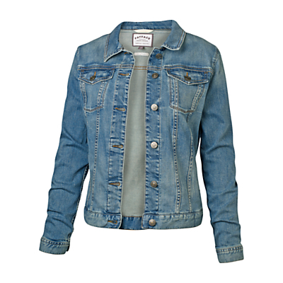 Pennymoor Jacket - pattern: plain; bust detail: added detail/embellishment at bust; style: denim; fit: slim fit; predominant colour: denim; occasions: casual; length: standard; fibres: cotton - stretch; collar: shirt collar/peter pan/zip with opening; sleeve length: long sleeve; sleeve style: standard; texture group: denim; collar break: high/illusion of break when open; pattern type: fabric; season: s/s 2016